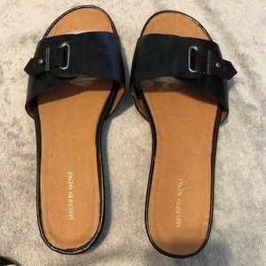 Saks Fifth Avenue Black Sandals